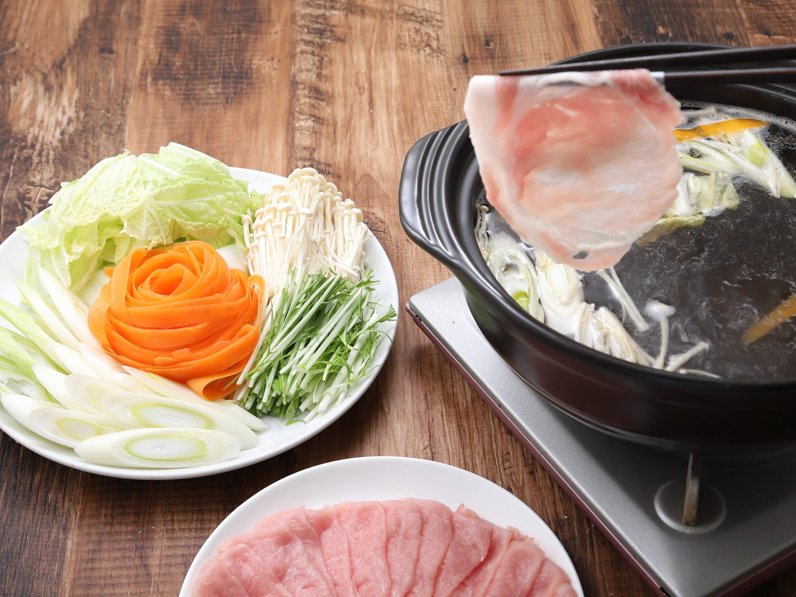 スープも味わう豚肉しゃぶしゃぶ(極みだし)