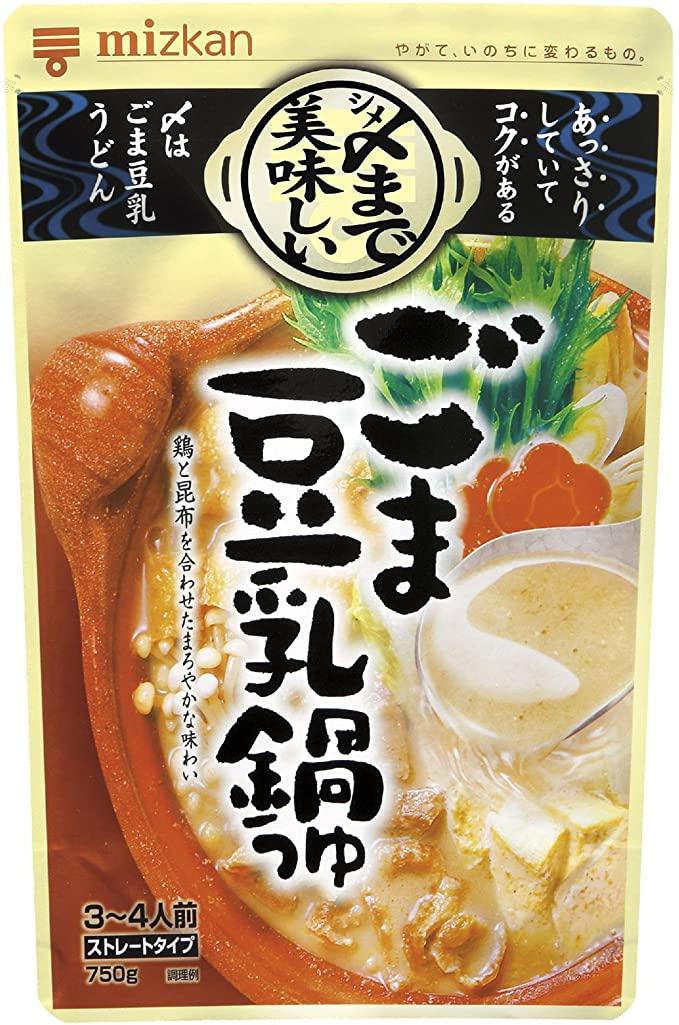 〆まで美味しいごま豆乳鍋つゆ